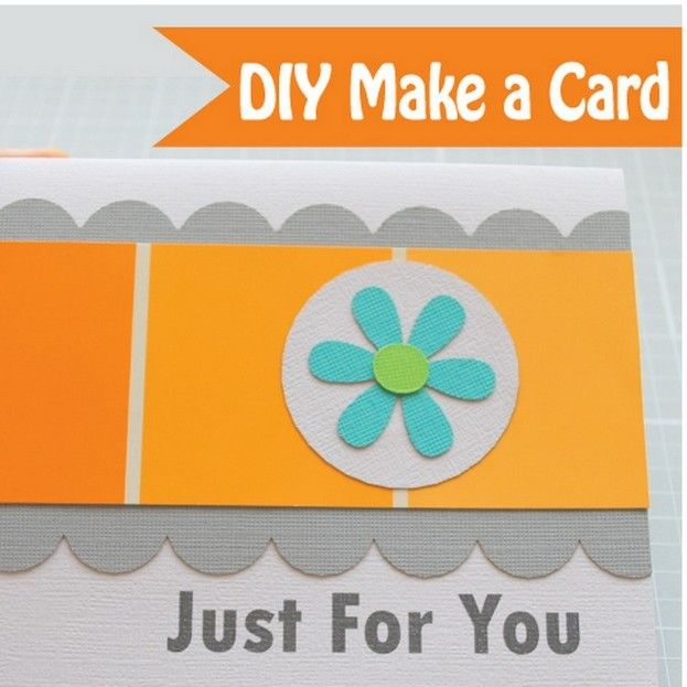 Make a simple card using a paint sample card, I found some at home - Sample Cards