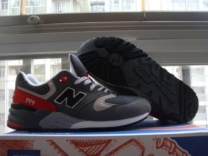 4f3b6feac54f0 Cheap New Balance 999 Limited Elite Grey Black Red Mens Shoes | New ...