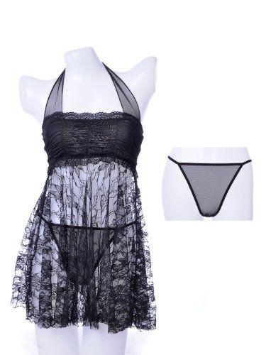 Anna-Kaci S/M Fit Black Elegant Floral Patterned Babydoll Halter Top And Thong Anna-Kaci,http://www.amazon.com/dp/B00AL1Q3ZO/ref=cm_sw_r_pi_dp_kBnrtb13EKR0DDK4