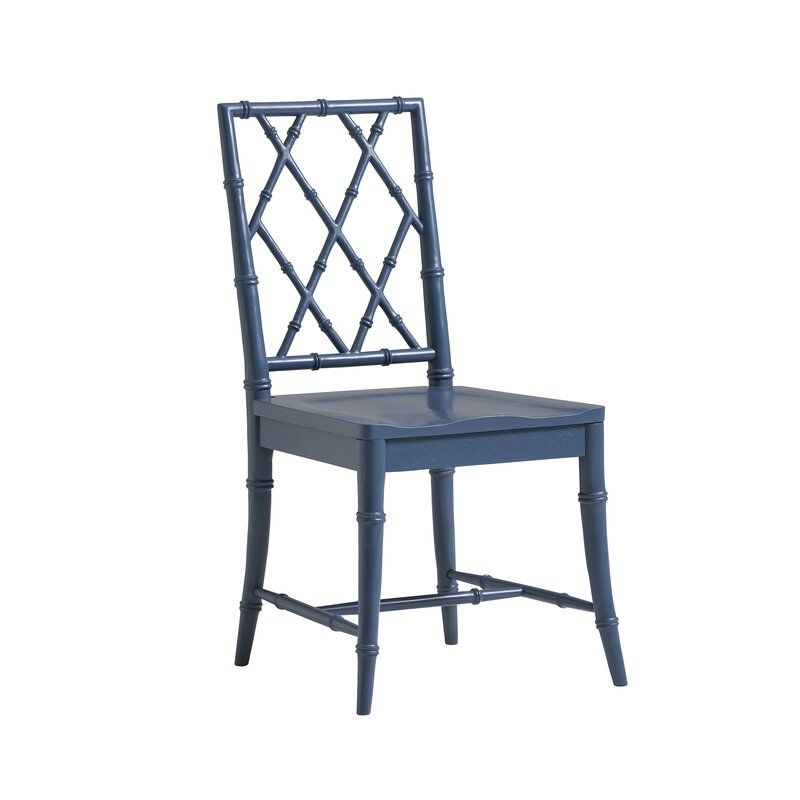 Solid Wood Back Side Chair in 2020   Solid wood dining ...