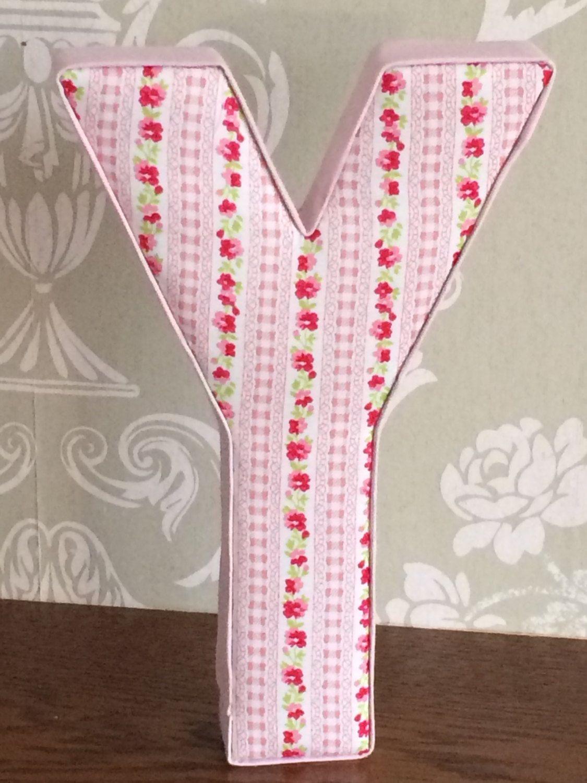Pink floral gingham stripe girls personalised nursery/bedroom decor, door plaque, keepsake, Christening, new baby, birthday gift, photo prop by AlphabetCraft on Etsy