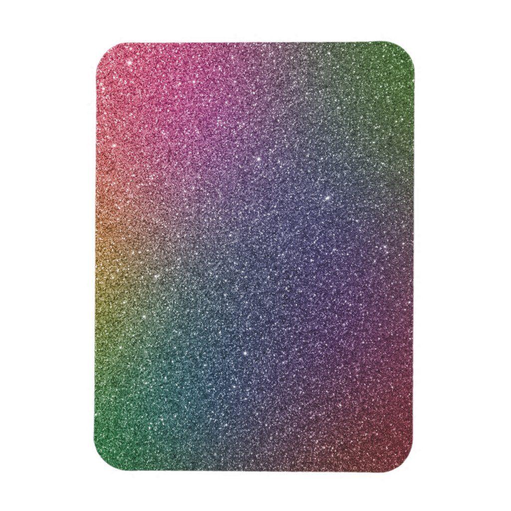 Rainbow of colorful glitzer
