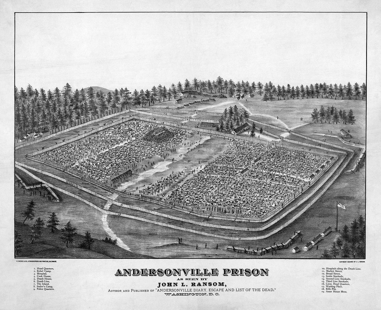Andersonville Prison - American Civil War prison camps - Wikipedia, the free encyclopedia