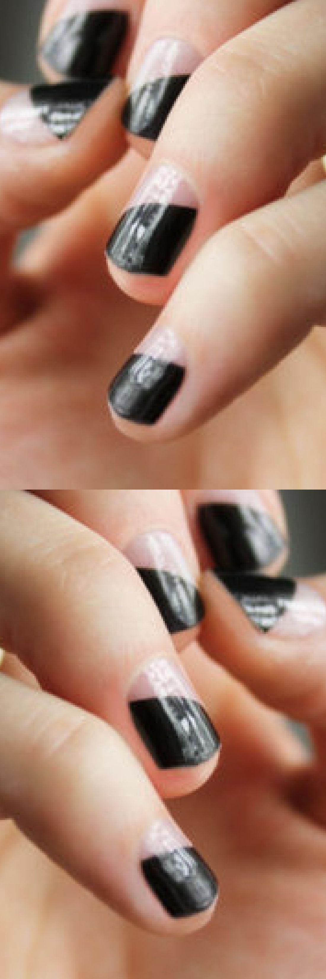 Black Modern French Nail Wraps. So Gloss Transparent Nail Wraps can ...