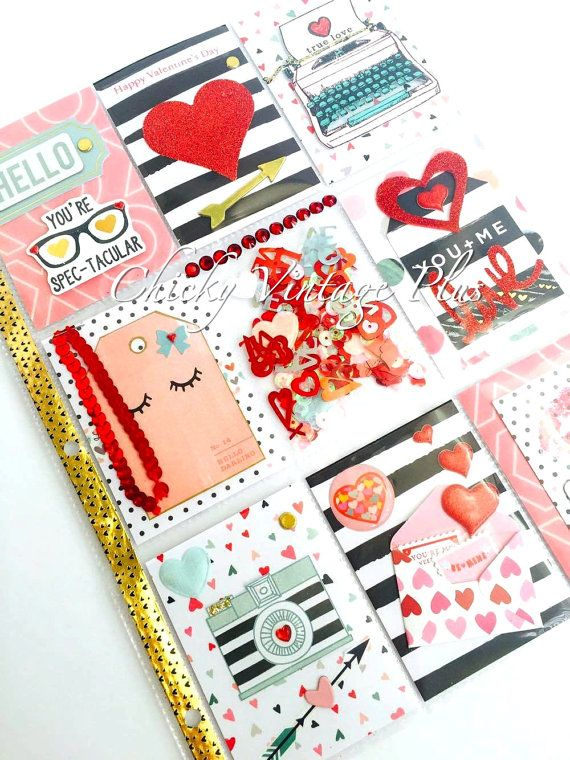 Valentines Day Pocket Letter by ChickyVintagePlus on Etsy  A