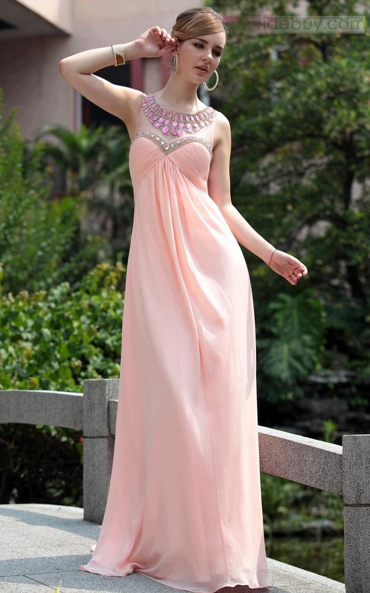 Cute Empire A-line Floor-length Prom/Evening Dress   Graduación ...