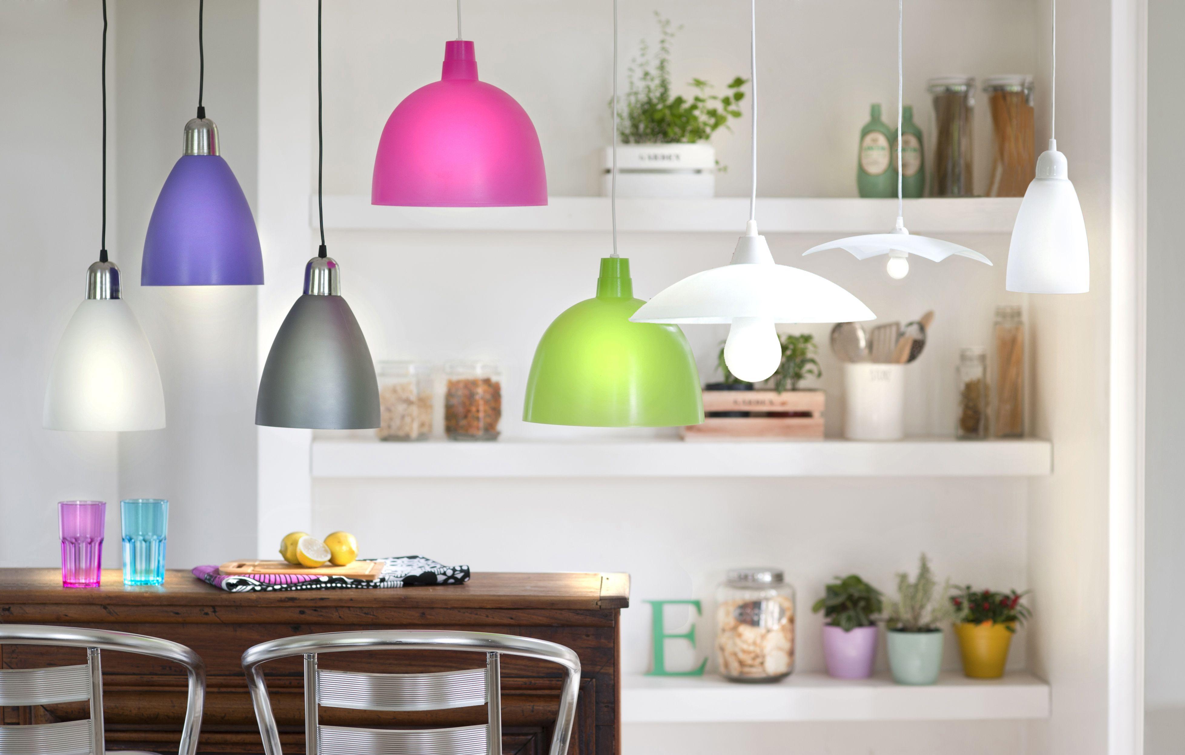 colgantes colores colores iluminacin lmparas colgantes encend la tienen tus la lamparita iluminacin comedor tus espacios el estilo