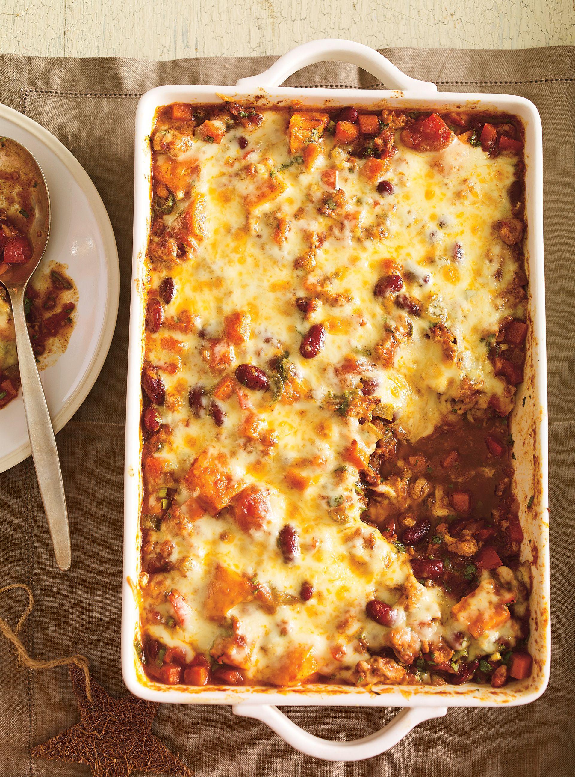 Chili de dinde et de légumes gratiné | Recette | Recette ...