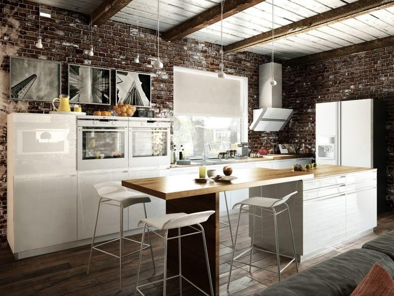 Déco loft - une source du0027inspiration inépuisable pour les artistes - idee bar cuisine ouverte