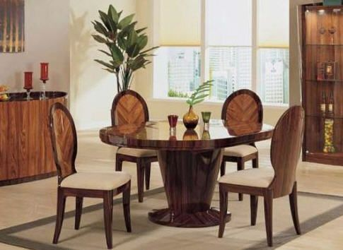set TATYANA Dinning Table + 4 TATYANA dinette Chairs TATYANA-dt\ch - Comedores De Madera