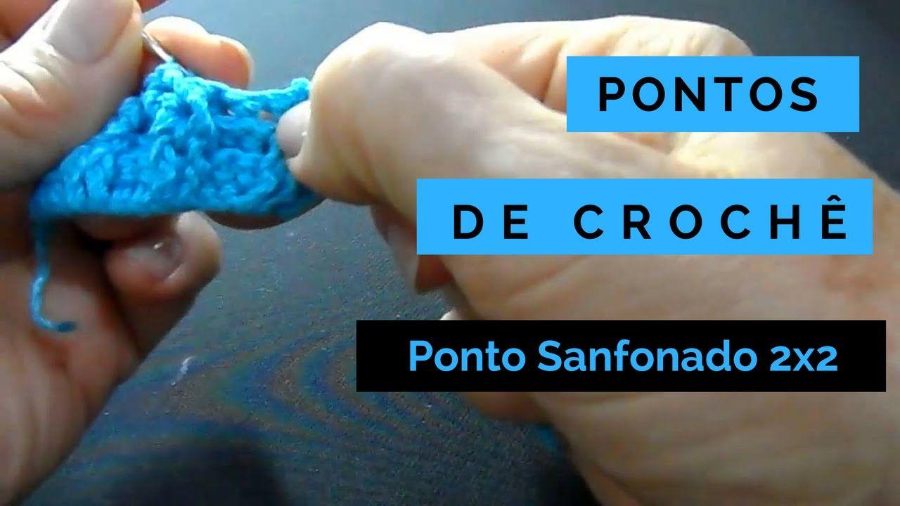 Pontos De Croche Ponto Sanfonado 2x2 1 Pontos De Croche