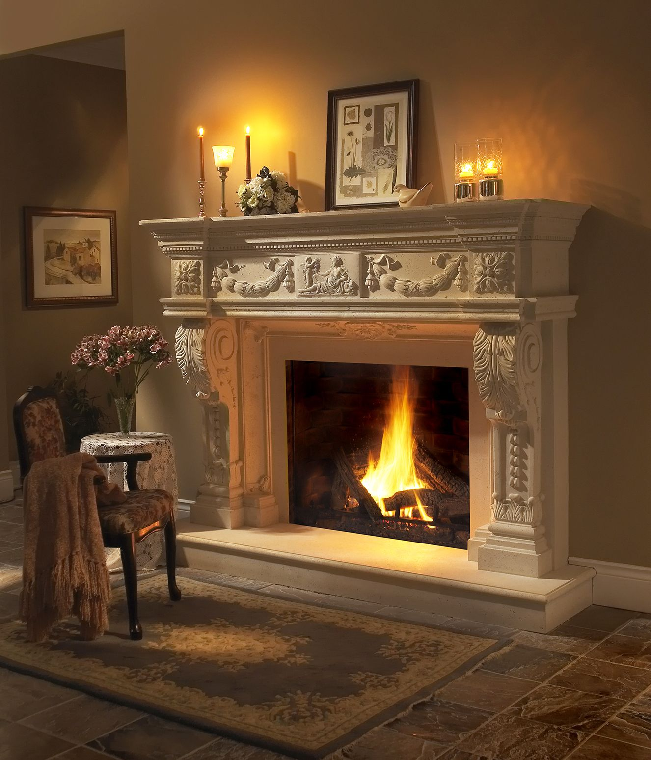 Nice Fireplaces: Lots Of Details On This Nice #fireplace #mantel. Www