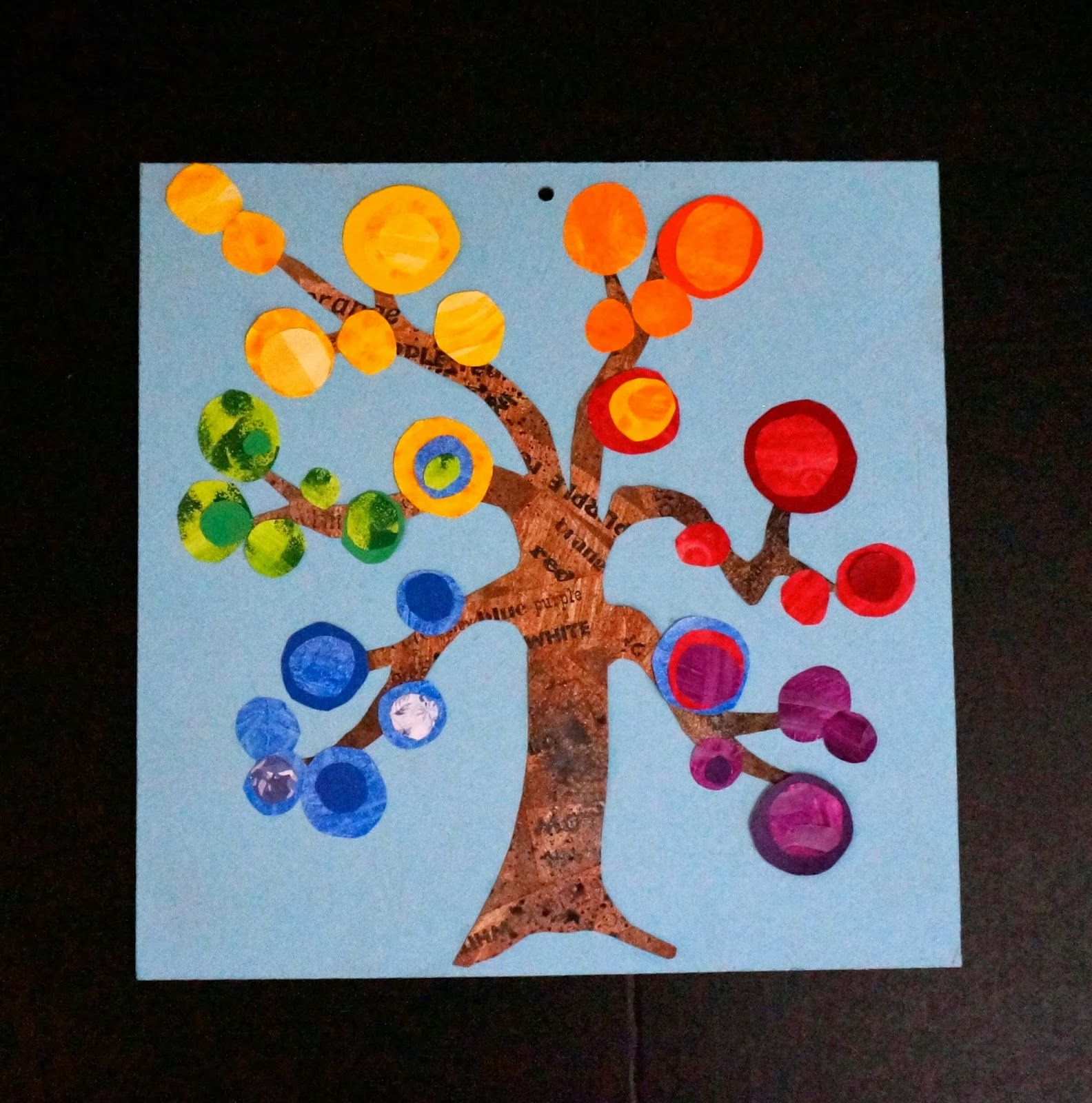 Color wheel art projects for kids - I Really Like The Idea Of A Textured Painted Paper Tree And Then The Color Wheel Colour Wheelart Project For Kidskid