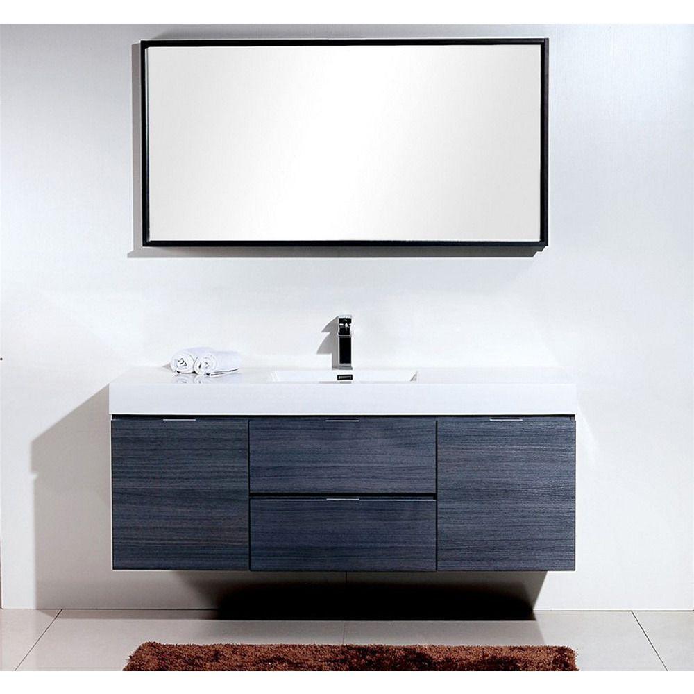 Kubebath Bliss 60 Modern Bathroom Single Sink Bathroom Vanity