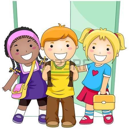 Students Outside Classroom School Illustration Preschool Designs Clip Art Free clipart preschool images