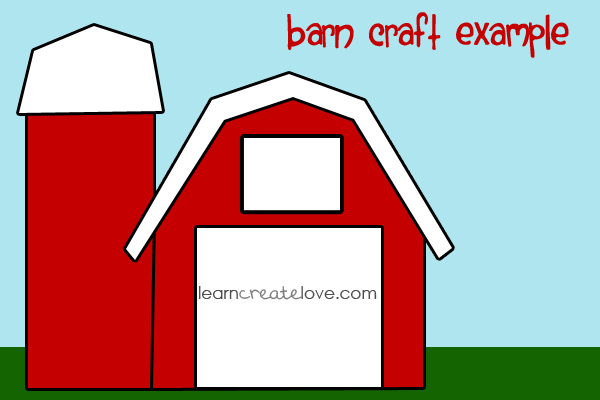 photograph about Barn Printable titled Printable Barn Craft We did this barn as our craft in direction of move