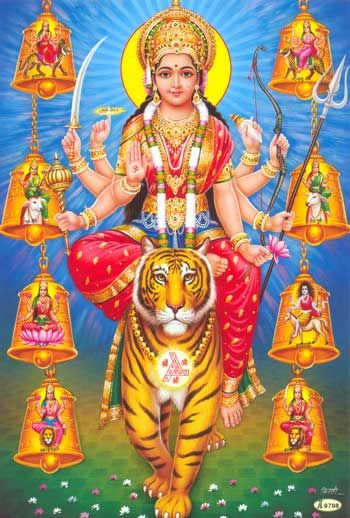 Ma Durga, the Mother Goddess of the Hindus and a form of ...