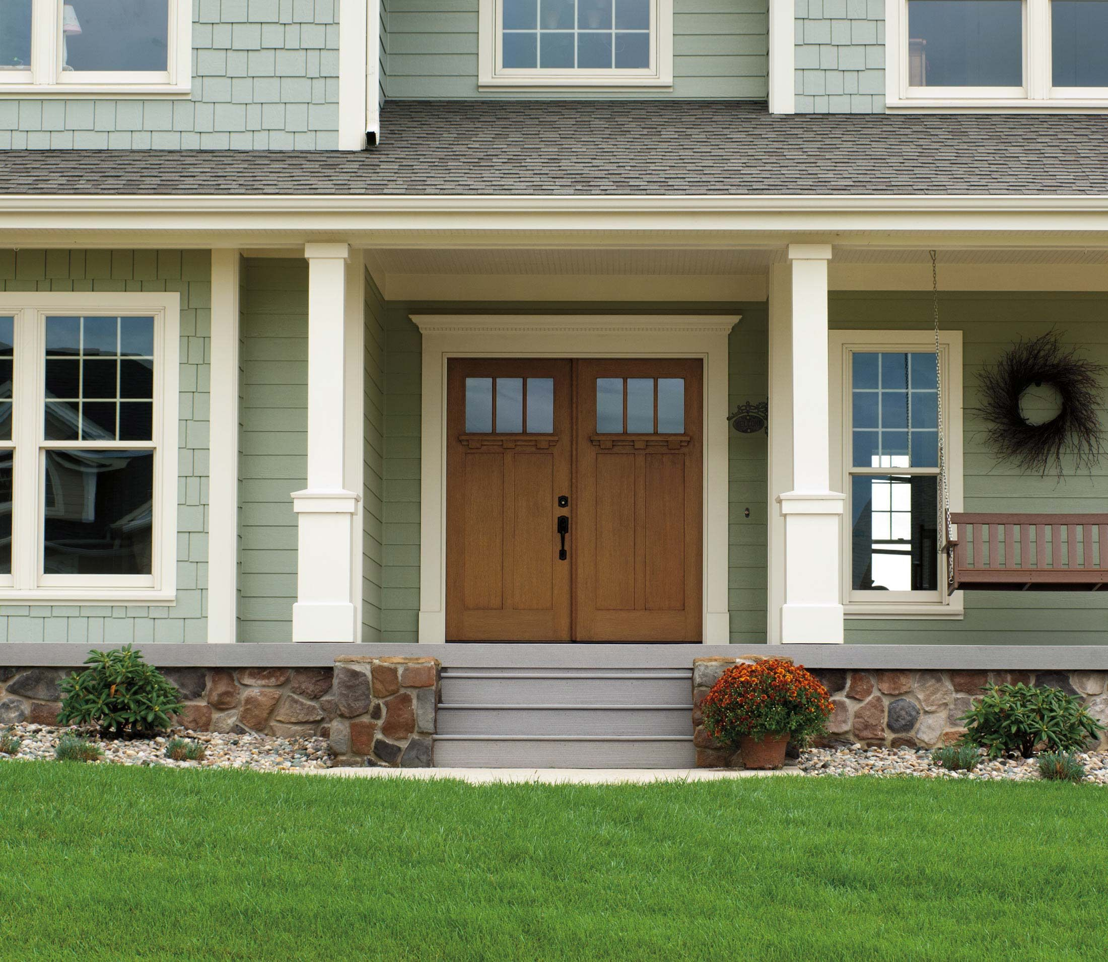 Architect series craftsman light entry door with glass so roomy pinterest for Exterior entry lights