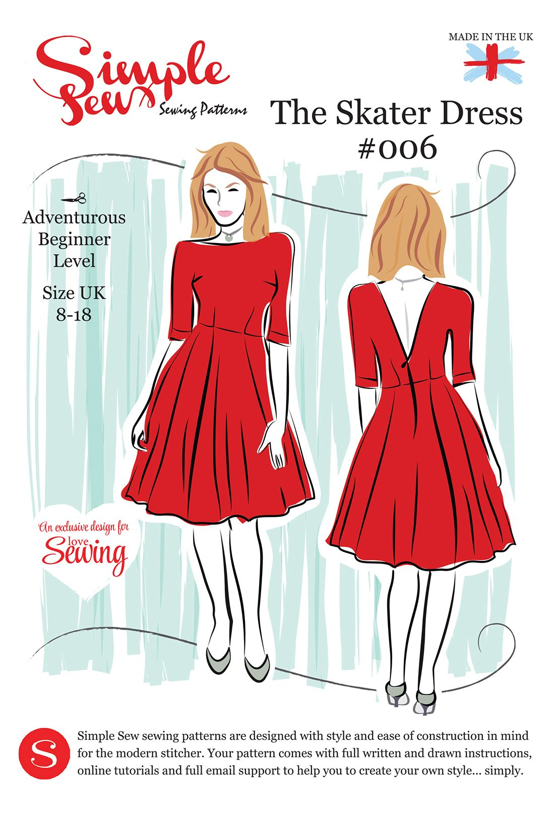 Simple Sew Ls08 Skater Pattern Envelope Free With Issue