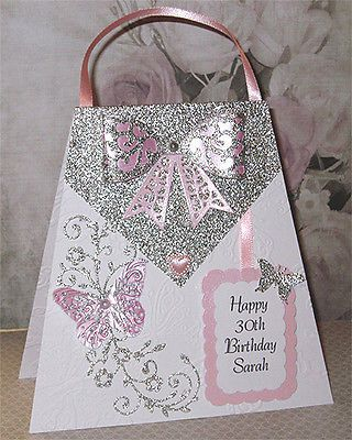 Personalised Handmade 30th Birthday Card 18th 21st 40th 50th