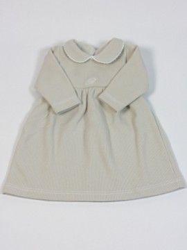 efcb66c5a vestido punto gris perla bebe. cheap classic baby clothes | ropita ...