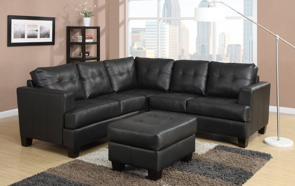 Toronto Tufted Bonded Leather Corner Sectional - 3 Colours ...