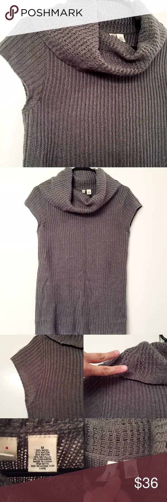 reduced* Moth (anthro) gray & copper cowl sweater | Moth, Cowl ...