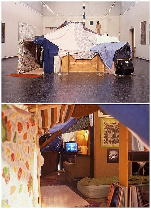 Reminds Me Of My Childhood With Little Sister Making Our Own Indoor Clubhouse Out Blankets