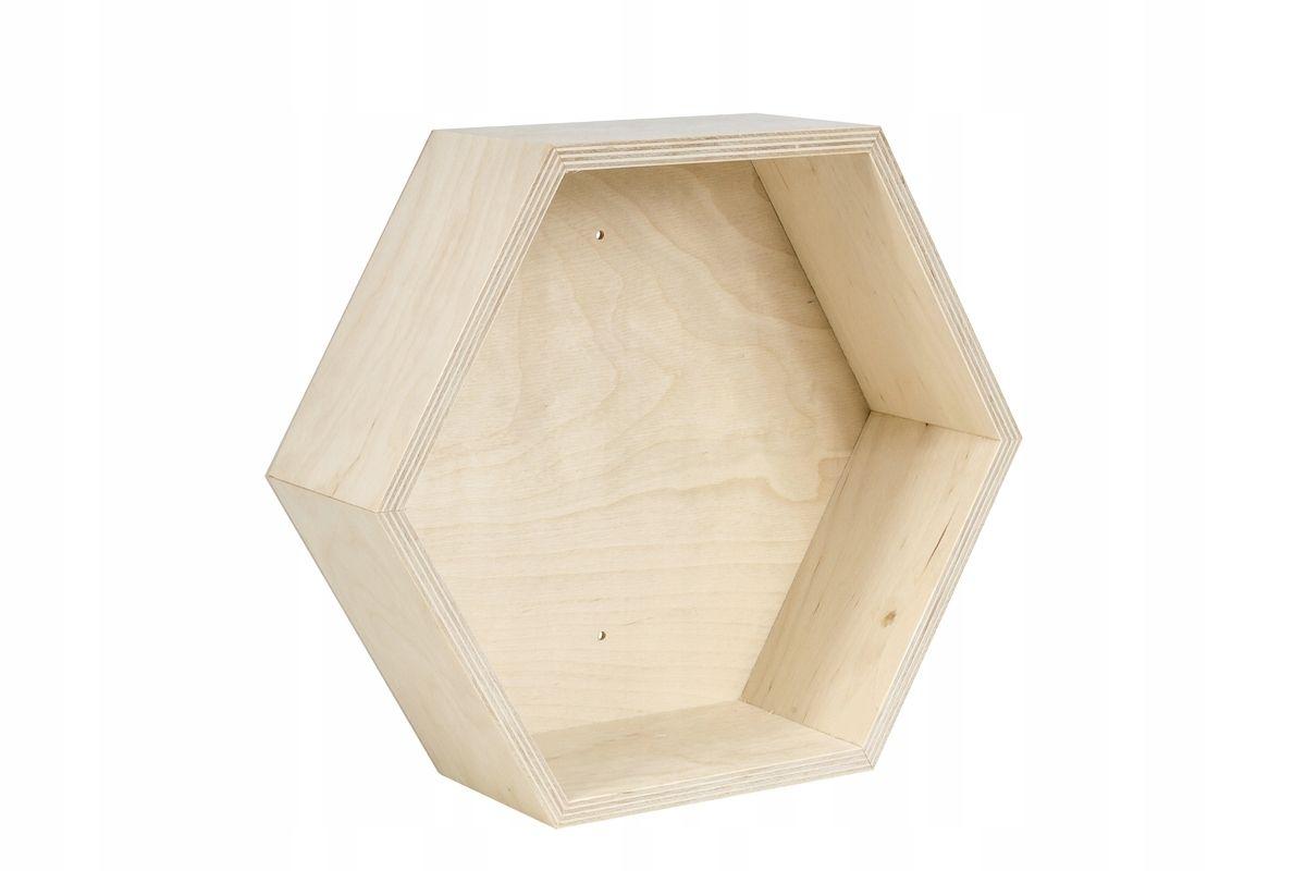 Drewniana Półka Typu Plaster Miodu Sześciokątna Pw