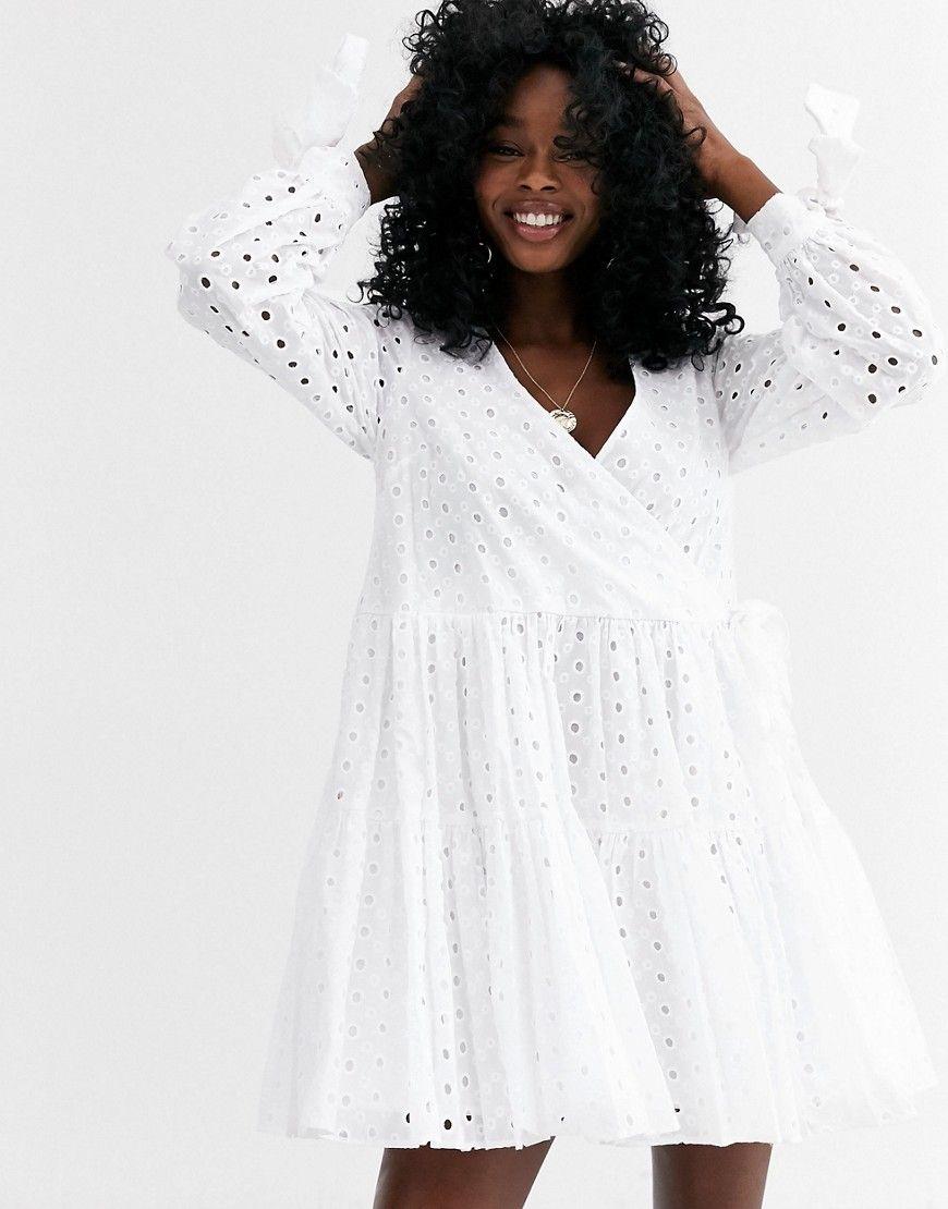 Good As New White Cap Sleeve Tiered Mini Dress Mini Dress Mini Dress With Sleeves Cute White Dress [ 1680 x 1120 Pixel ]