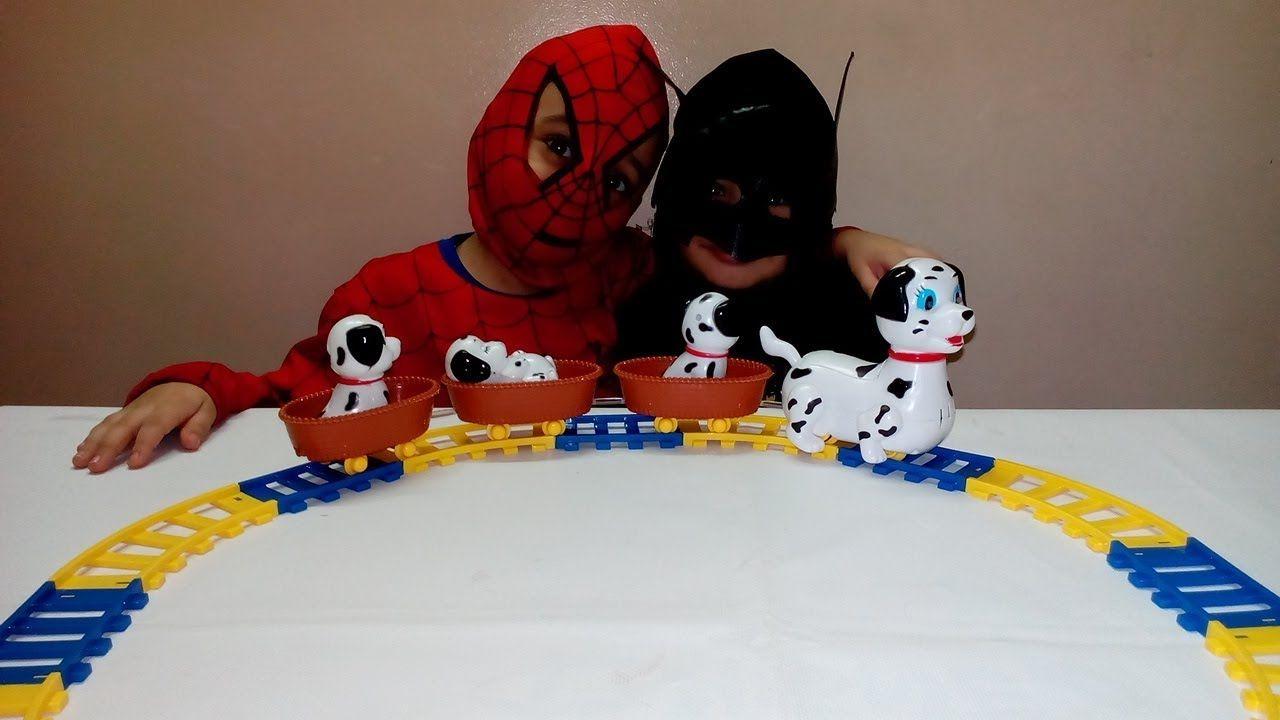 لعبة الكلاب المنقطة لعبة القطار لشخصيات فيلم 101 كلب منقط العاب اطفا Spiderman Batman Character