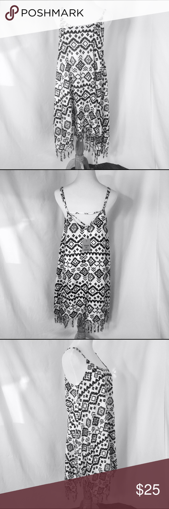0b19de4fbc Aztec Print BoHo Cover Up Tunic Dress Aztec Print BoHo Cover Up Tunic Dress  with Fringe. Trendy Summer Essential. 100% Rayon Beach By Exist Other
