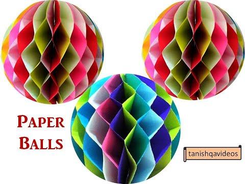Diy Hanging Paper Ball Festival Home Decoration Ideas Tanishqavideos Diy Paper Craft Ideas Youtube Paper Balls Paper Crafts Diy Diy Hanging