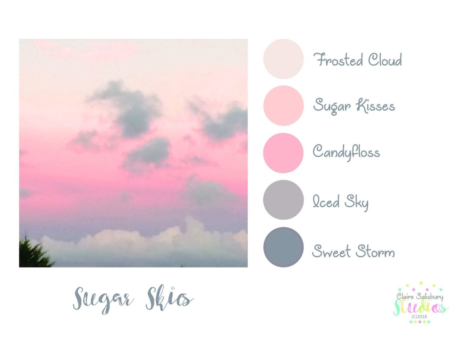 Colour Palette Challenge January 2018 - Sugar Skies ...