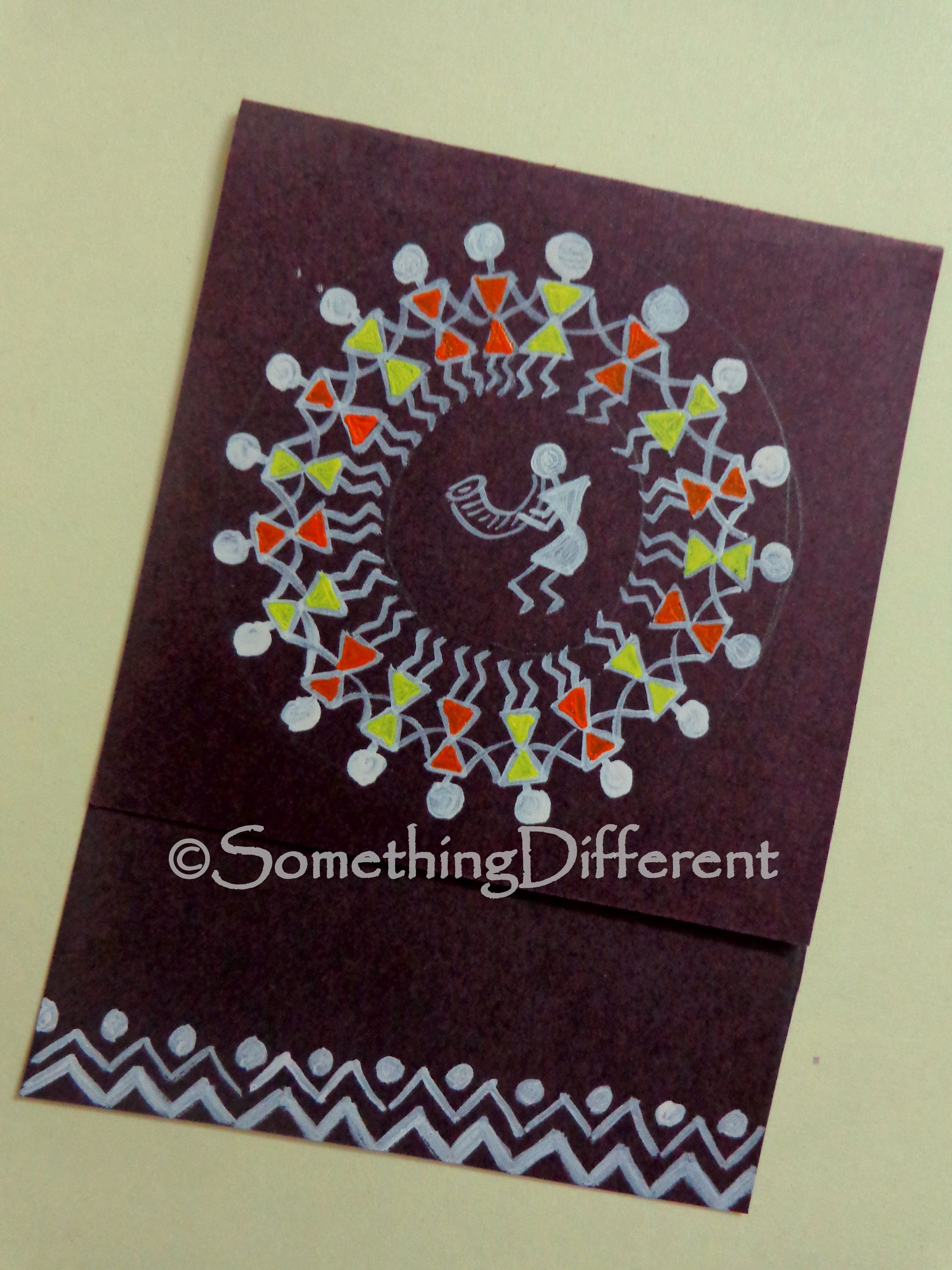 Greeting Card Warli Warli Painting Greeting Cards Pinterest