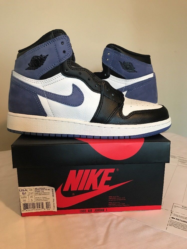 low priced 086e8 c28cf Nike Air Jordan Retro 1 Blue Moon GS BG Size 5.5y New Youth ...