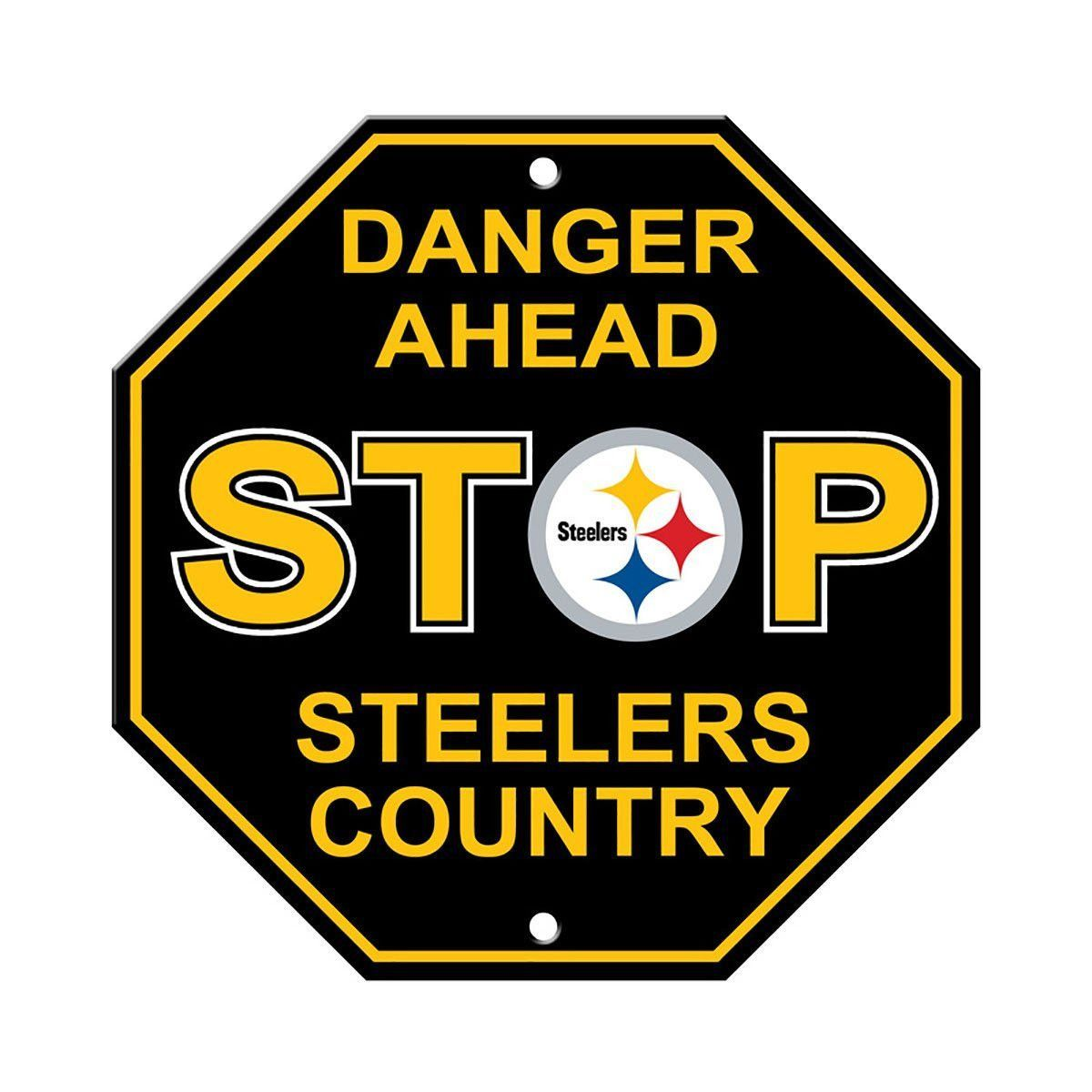Pittsburgh Steelers Stop Sign Decoration | Pittsburgh steelers ...