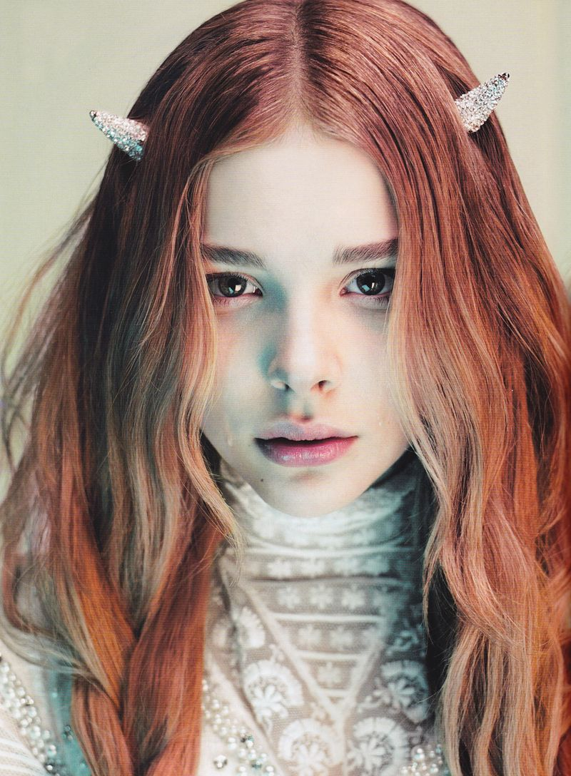 Though I would settle for tiny horns too <3 Chloe Moretz by Mert & Marcus for LOVE #6