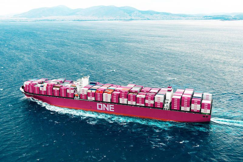 Ship Photos Of The Day Japan S Giant Pink Ships Ports In India Cargo Shipping Ship