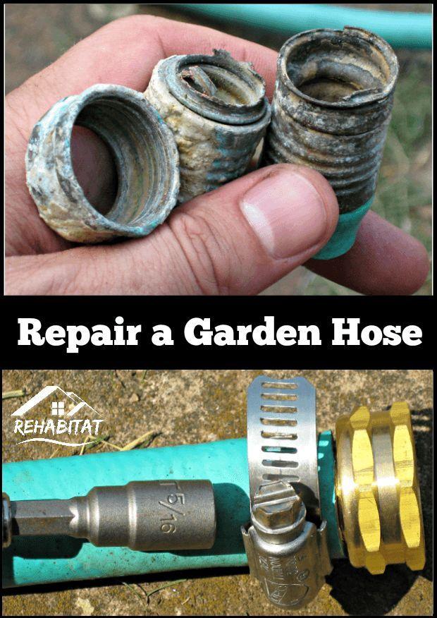 Rusted garden hose? No problem! Here\'s how to fix it. | Garden hose ...