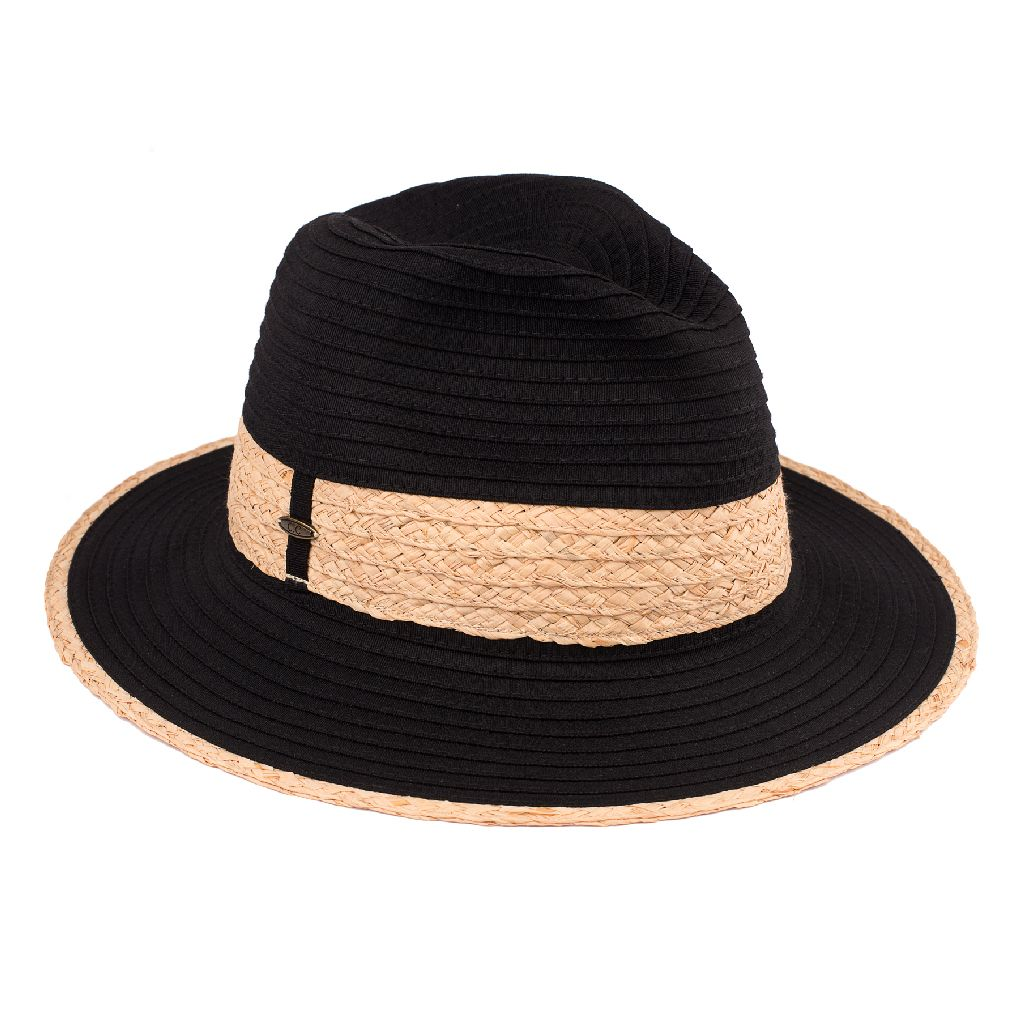 Summer Paper Panama Hat With Straw Band (ST-513)