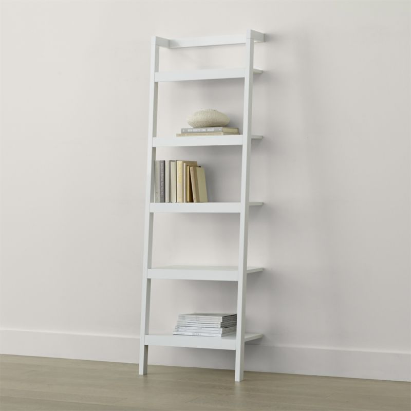 Sawyer White Leaning 24 5 Bookcase Living Room Furniture Layout Leaning Bookcase Bookcase