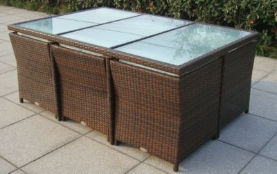 Unique Mira Loungeset teilig Akazie Geflecht Rattan Mixed Brown Kissen Royal Blendes Black Garten Pinterest