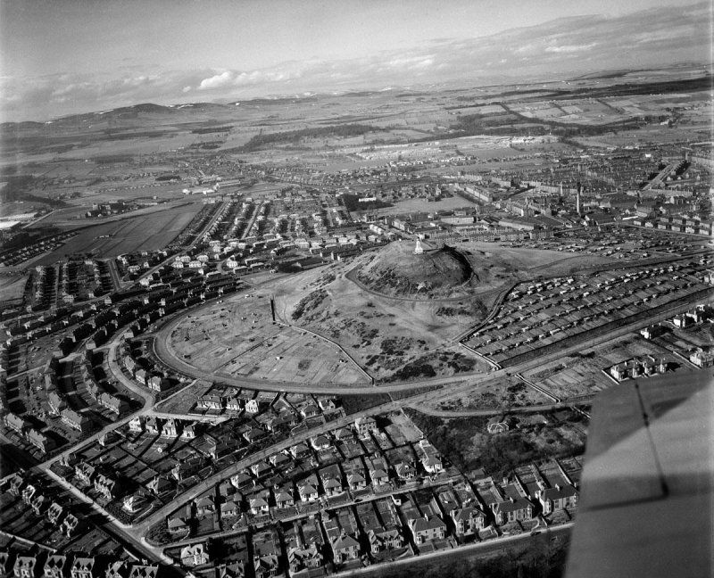 Aerofilms Dundee Law Oblique Aerial Photograph Taken Facing North SC1268524 Copyright RCAHMS