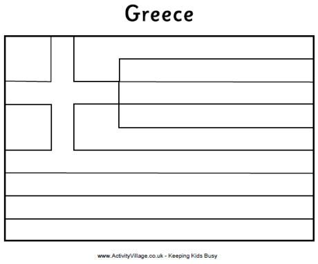 Coloring Flag Greece Greece Business For Kids Flag Colors