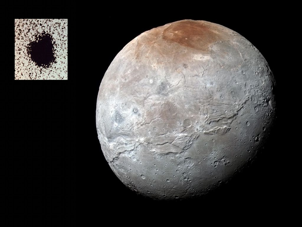 Charon Moon: Charon: Moon Of Pluto Image Credit: NASA, Johns Hopkins