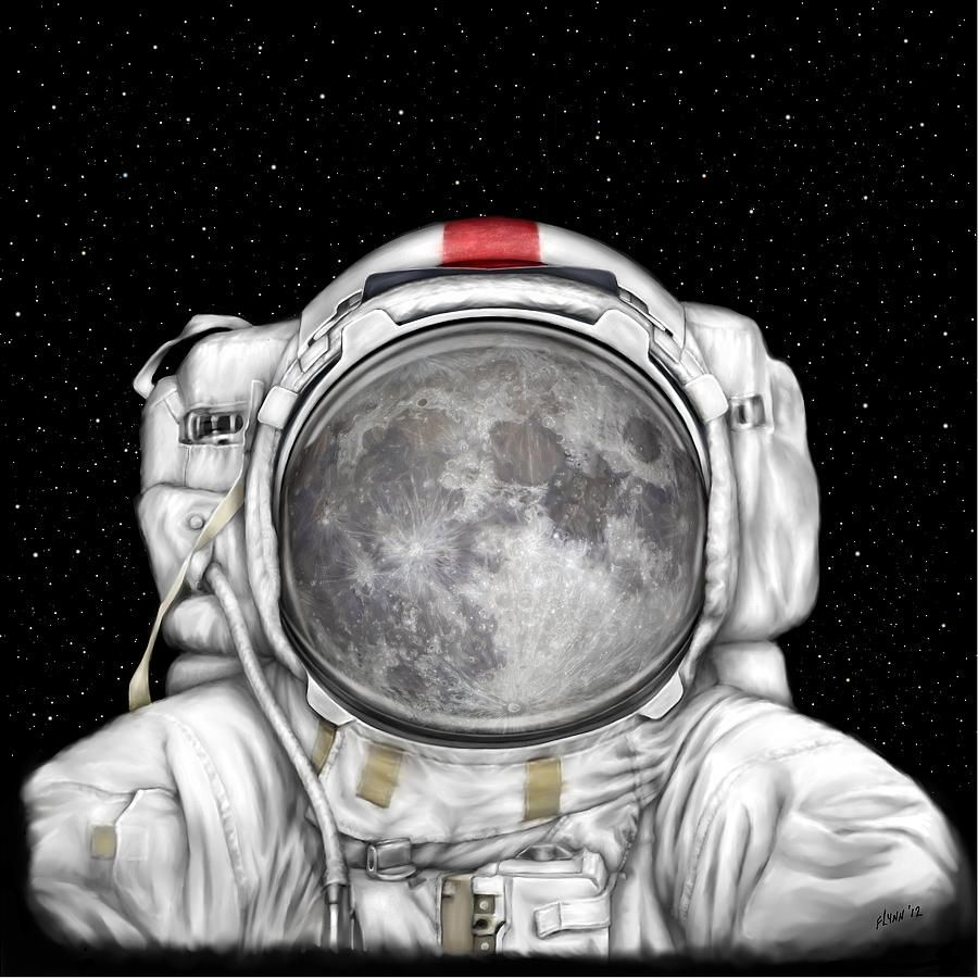 Astronaut Moon Canvas Print Canvas Art By Tharsis