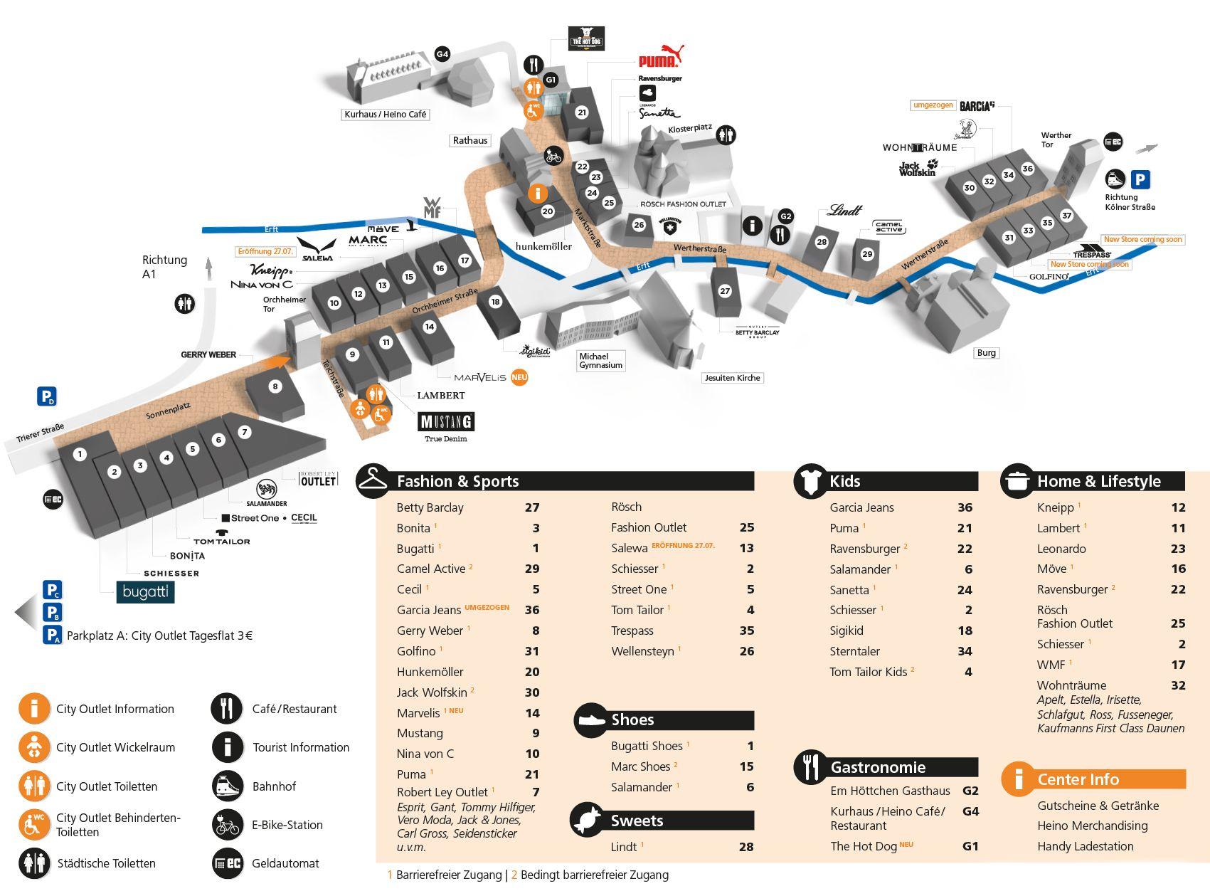 herausragende Eigenschaften Offizielle Website Mode-Design Centerplan City Outlet Bad Münstereifel | städtereisen in ...