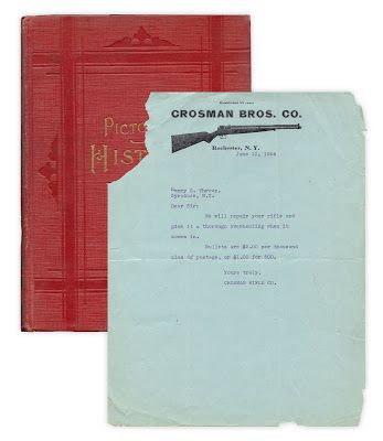Business letter from the Crosman Bros Company, Rochester NY - company business letter