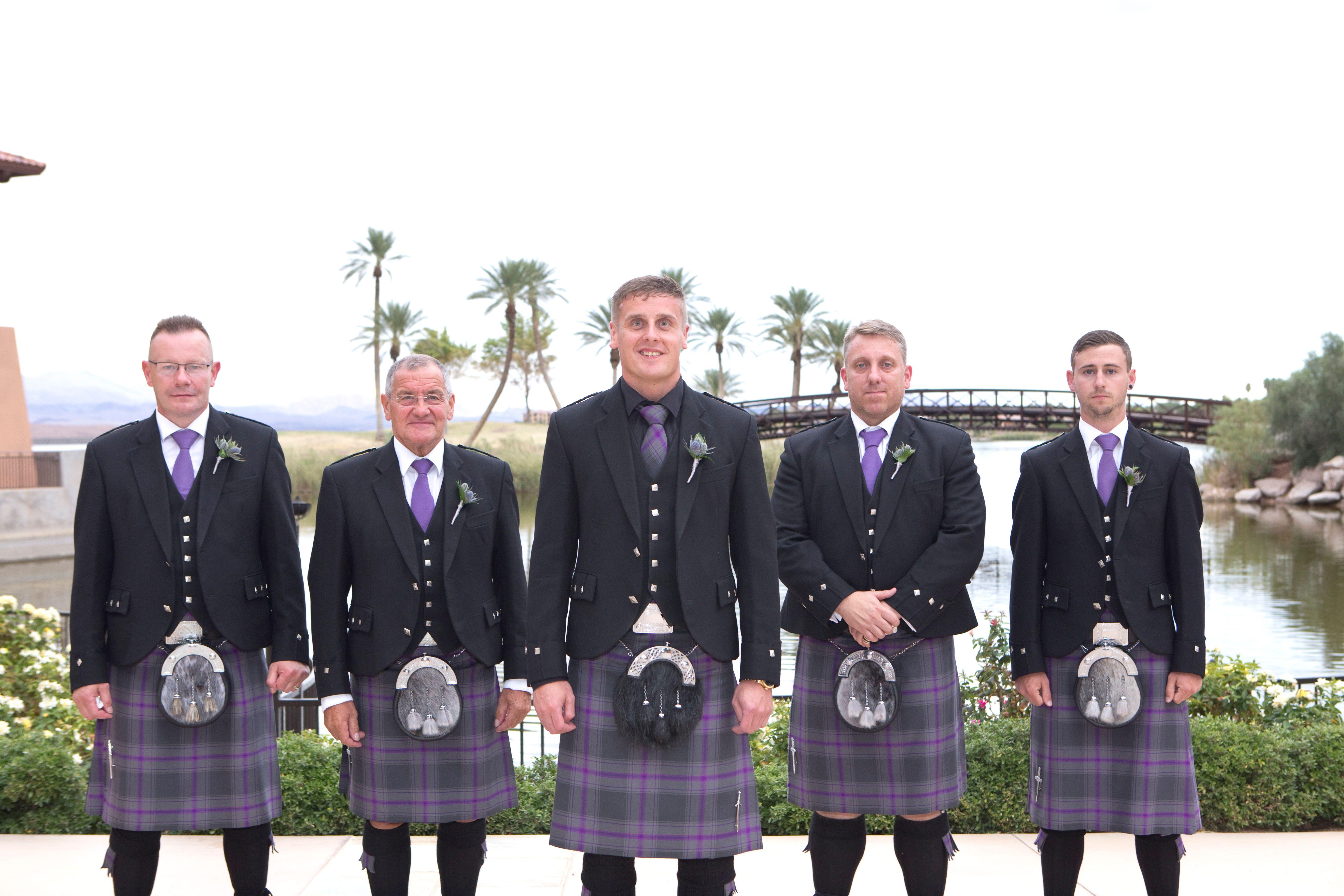A Scottish wedding party at Lake Las Vegas. | Lake las ...